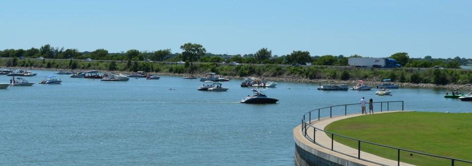 Lake Ray Hubbard and boats